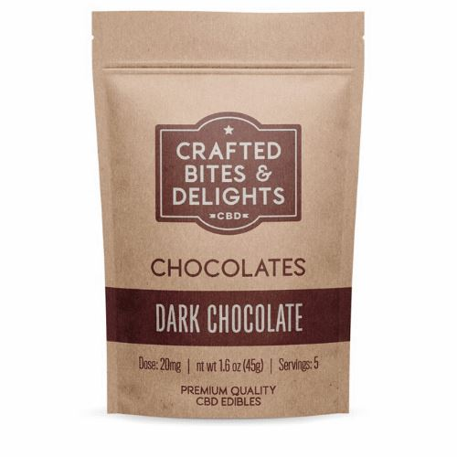 CBD Crafted Bites & Delights | 20 mg | 5 Count | Dark Chocolate