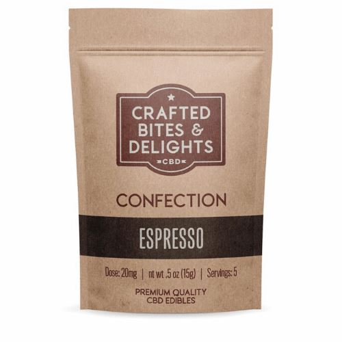 CBD Crafted Bites & Delights | 20 mg | 5 Count | Espresso