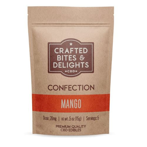 CBD Crafted Bites & Delights | 20 mg | 5 Count | Mango