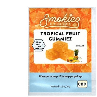 CBD Gummies | 25 mg/gummy | 10 count | Tropical Fruit