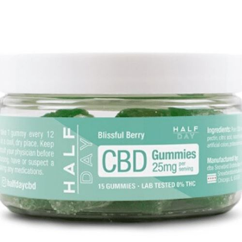 CBD Gummies | 25 mg/gummy | 15 count | Blissful Berry | CBD Isolate