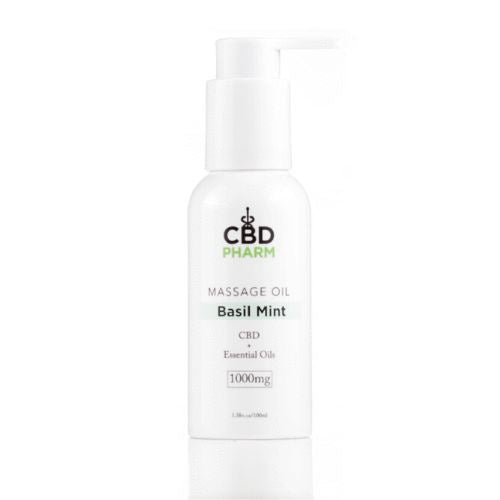 CBD Massage Oil | 1000 mg | 3.38 oz | Basil Mint