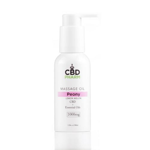 CBD Massage Oil | 1000 mg | 3.38 oz | Peony Lemon Melon
