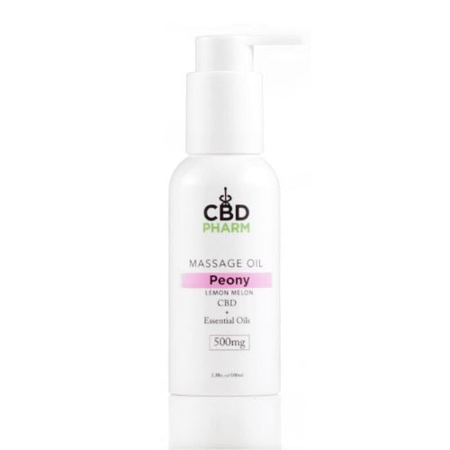 CBD Massage Oil | 500 mg | 3.38 oz | Peony Lemon Melon