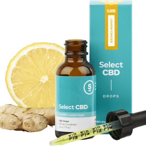 CBD Oil | 1000 mg | 30 ml | Lemon Ginger Drops | CBD Isolate