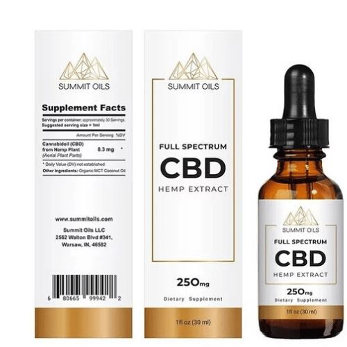 CBD Oil | 250 mg | 30 ml | Natural | Full Spectrum