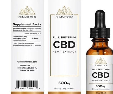 CBD Oil | 500 mg | 30 ml | Natural | Full Spectrum
