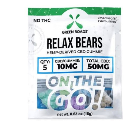 CBD Relax Bears | 10 mg/gummy | 50 mg/pack | CBD Isolate