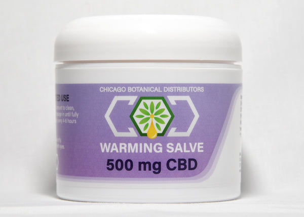 CBD Warming Salve | 500 mg | 4 oz | CBD Isolate