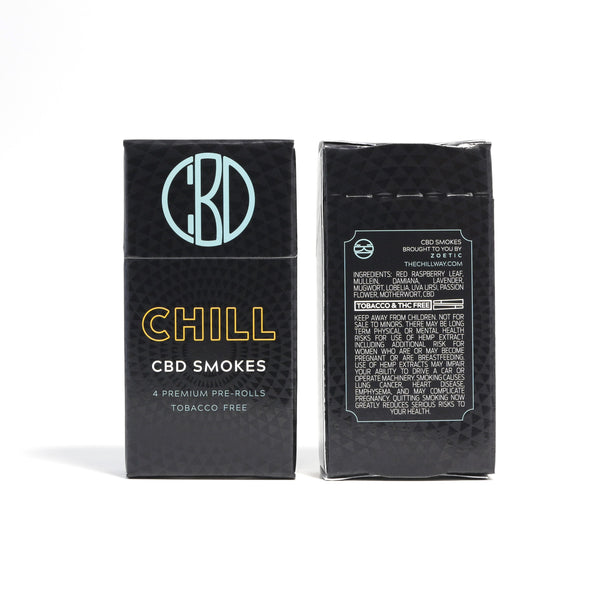 Chill CBD Smokes | 120 mg |  1 pack | 4 pre-rolls