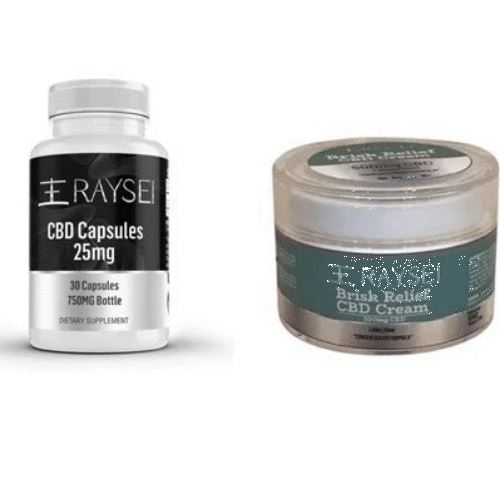 Raysei Relief Package | 25 mg Capsules | 500 mg Relief Cream