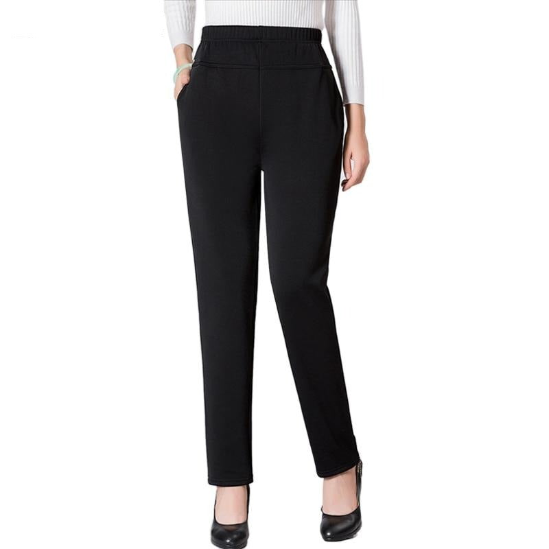 Womens Black Casual Pants Plus Size Trousers