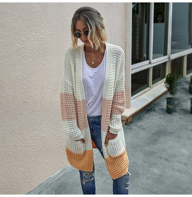 Women Casual Long Sleeve Knitted Cardigans
