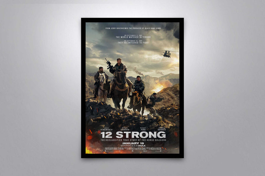 12 Strong - Signed Poster + COA