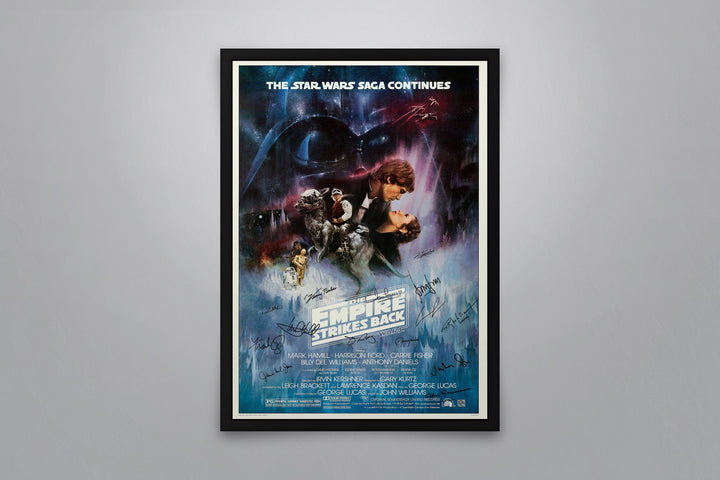 Star Wars: Episode V - The Empire Strikes Back - Signed Poster + COA - Poster Memorabilia