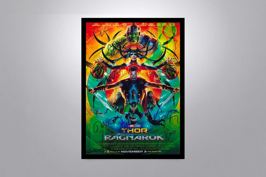 Thor Autographed Poster Collection
