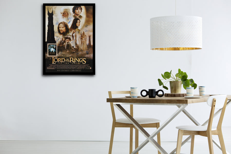 LORD OF THE RINGS: The Two Towers - Signed Poster + COA