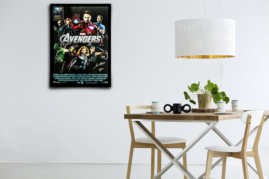 MARVEL'S THE AVENGERS - Signed Poster + COA
