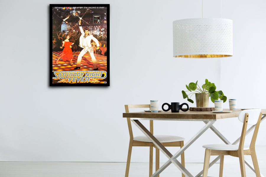 SATURDAY NIGHT FEVER - Framed Signed Movie Poster