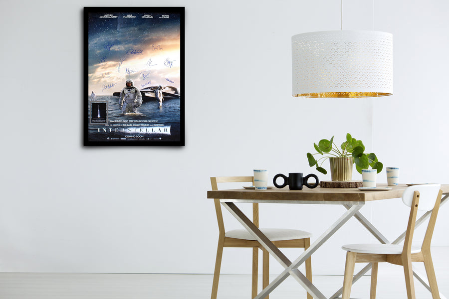INTERSTELLAR - Signed Poster + COA