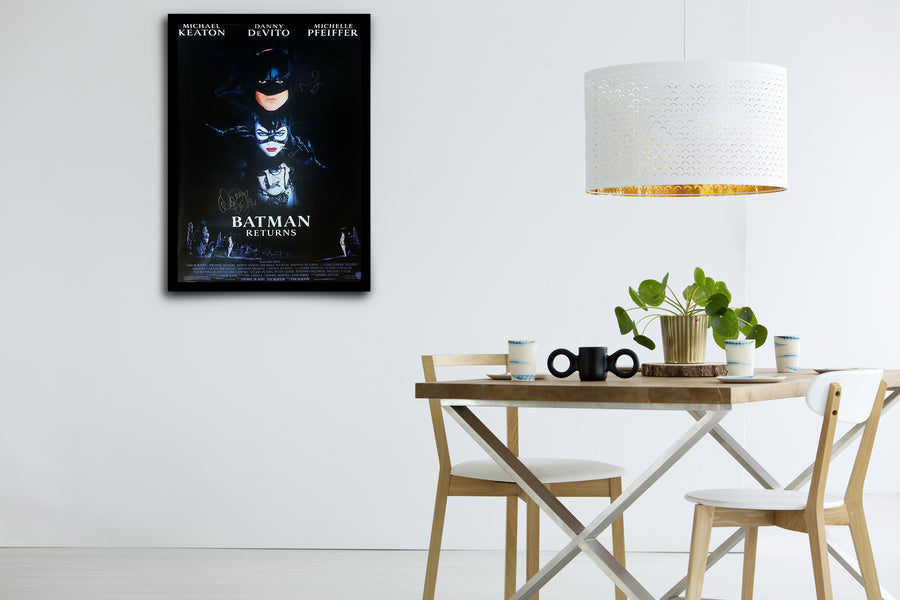 Batman Returns - Signed Poster + COA
