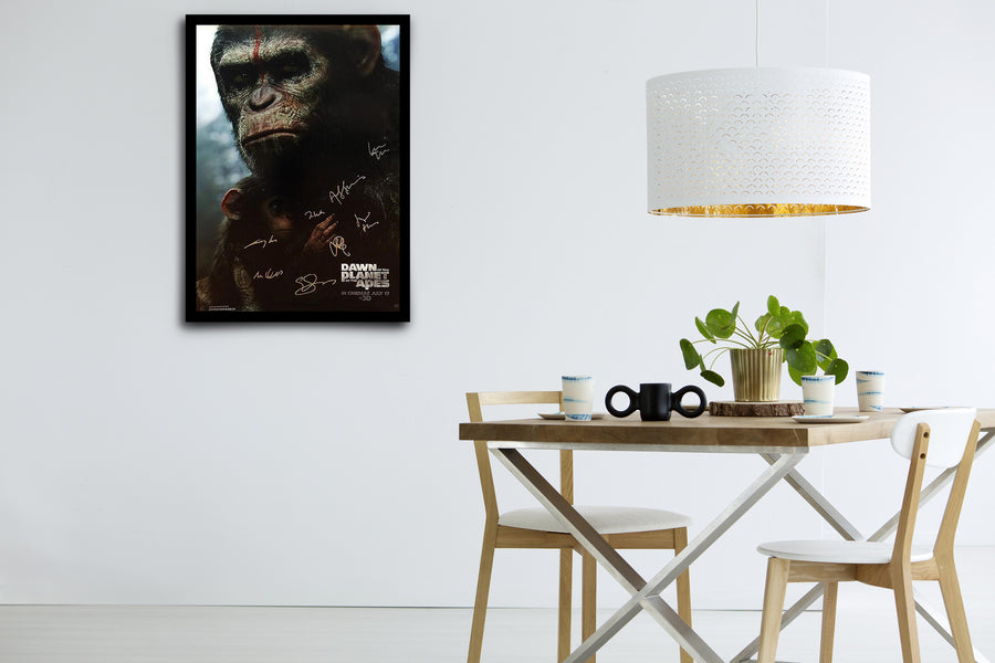 Dawn of the Planet of the Apes - Signed Poster + COA