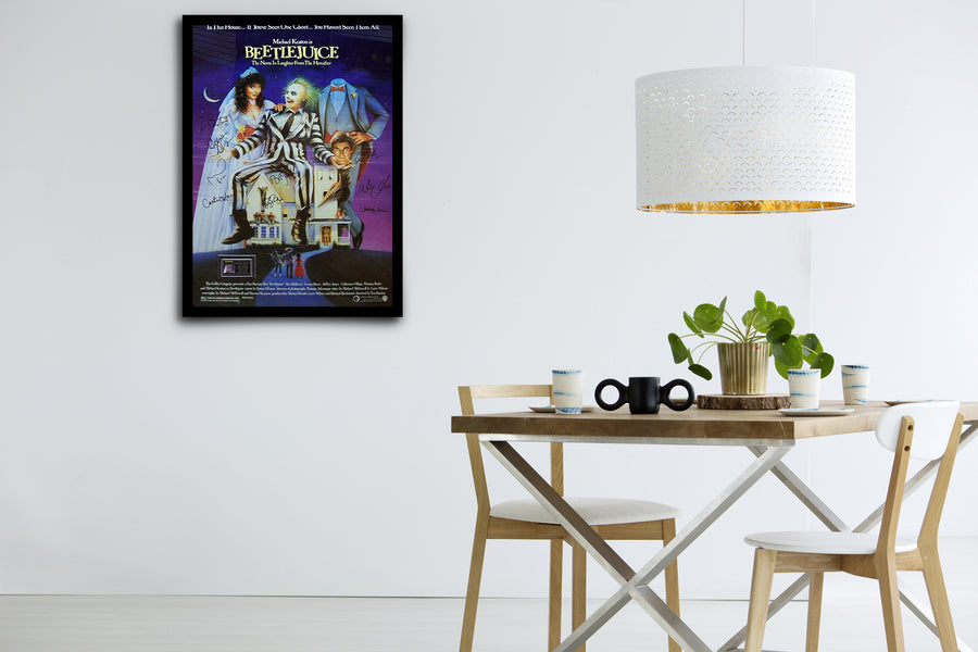 Beetlejuice - Signed Poster + COA
