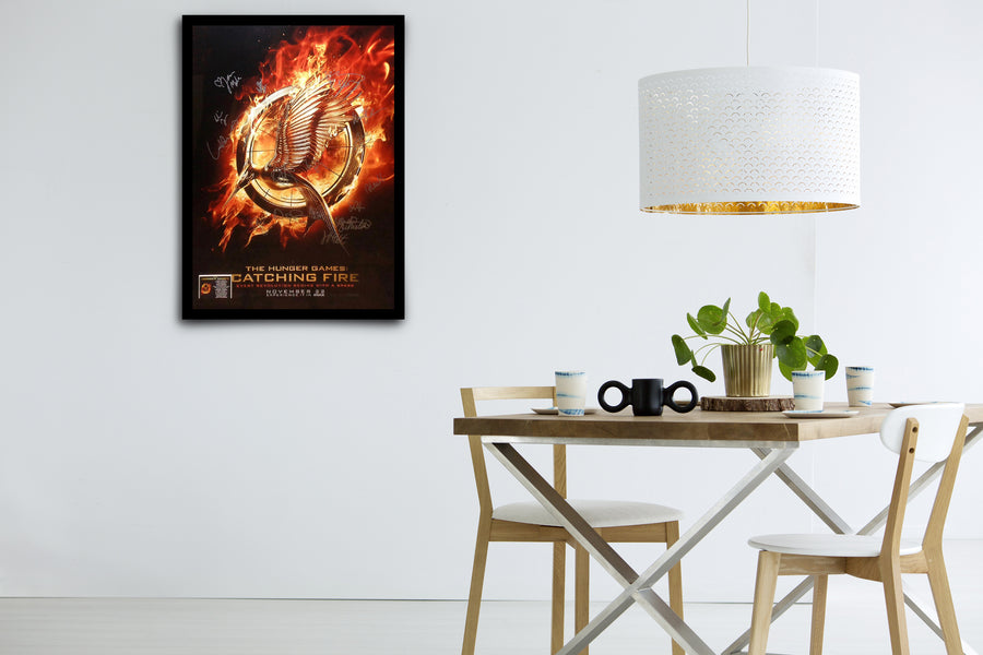 THE HUNGER GAMES: Catching Fire - Signed Poster + COA - Poster Memorabilia