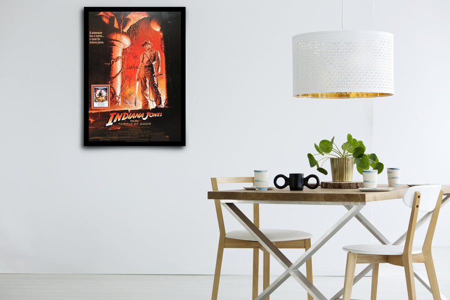 INDIANA JONES AND THE TEMPLE OF DOOM - Signed Poster + COA