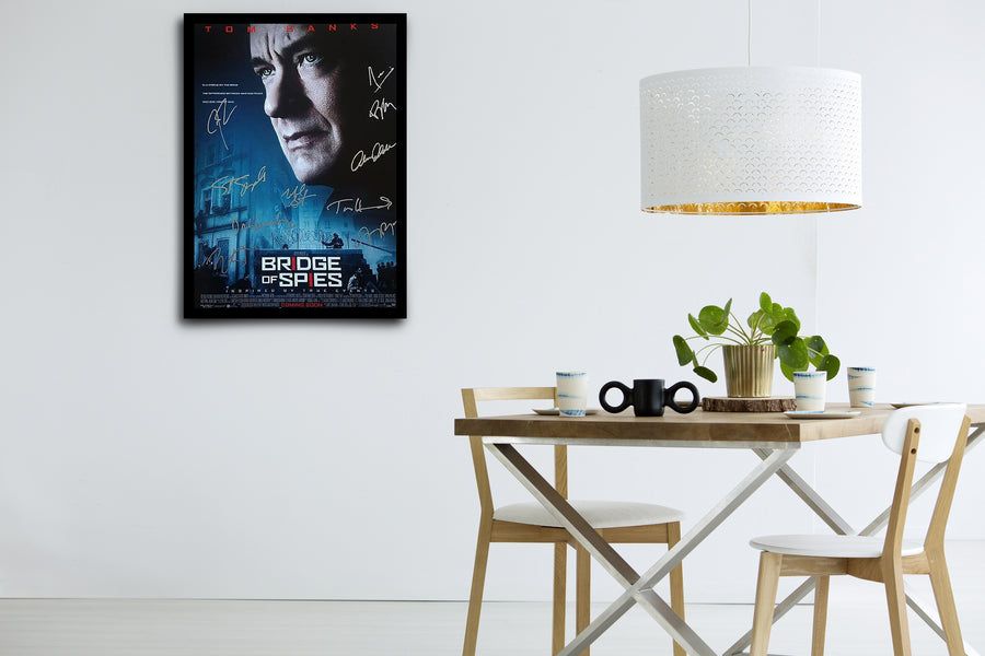 BRIDGE OF SPIES - Signed Poster + COA