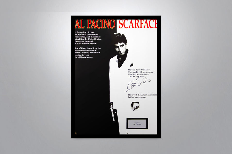 SCARFACE - Signed Poster + COA
