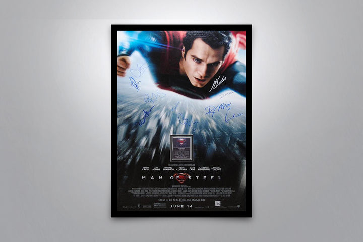 MAN OF STEEL - Signed Poster + COA