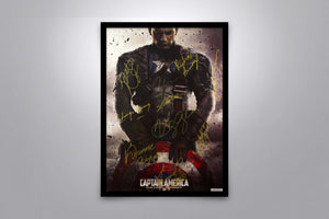 Captain America The First Avenger - Signed Poster + COA - Poster Memorabilia
