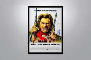 THE OUTLAW JOSEY WALES - Signed Poster + COA