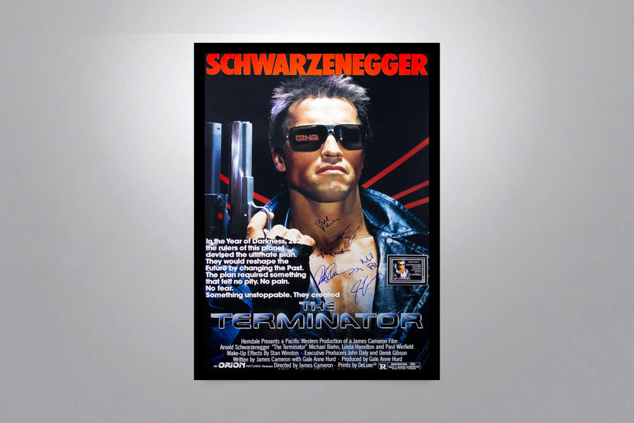 THE TERMINATOR - Signed Poster + COA