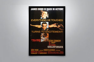 JAMES BOND: Goldfinger - Signed Poster + COA