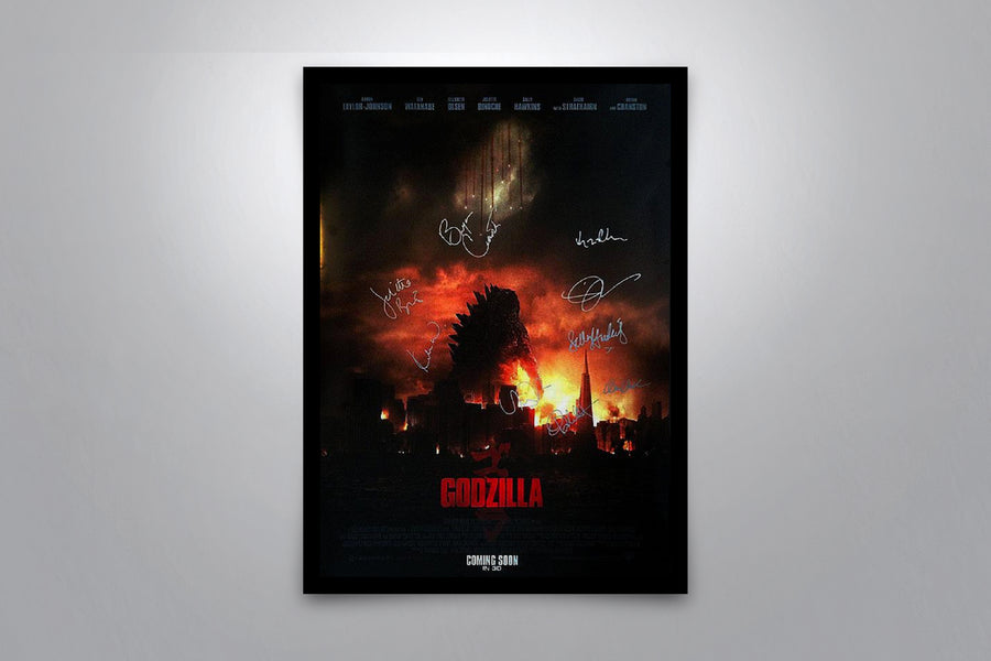 GODZILLA - Framed Signed Movie Poster