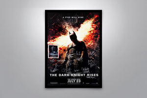 BATMAN: The Dark Knight Rises- Signed Poster + COA