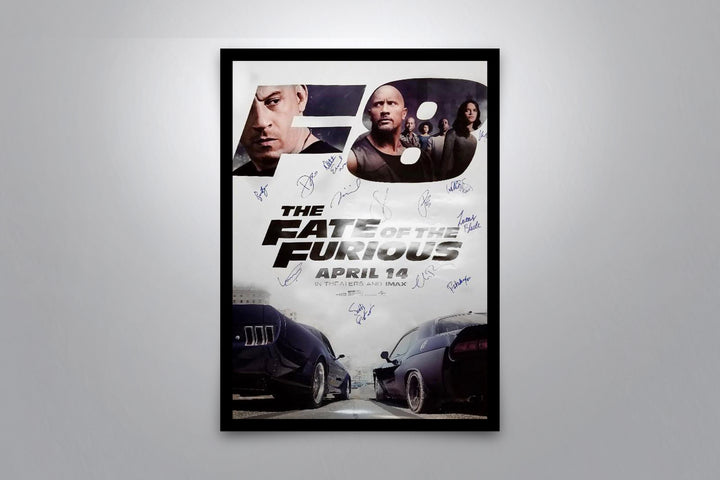 THE FATE OF THE FURIOUS - Signed Poster + COA