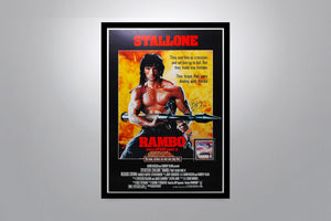 RAMBO: First Blood Part II - Signed Poster + COA