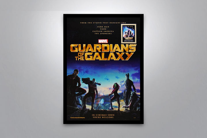GUARDIANS OF THE GALAXY - Signed Poster + COA