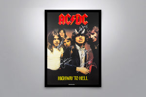 AC/DC: Highway to Hell - Signed Poster + COA