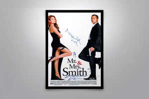 Mr. and Mrs. Smith Original Movie Poster - Signed Poster + COA