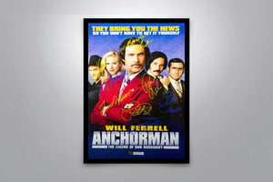 Anchorman: The Legend of Ron Burgundy - Signed Poster + COA