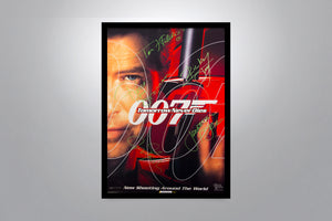 JAMES BOND: Tomorrow Never Dies - Signed Poster + COA