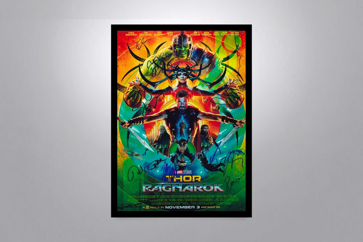 THOR: Ragnarok -Autographed Movie Poster