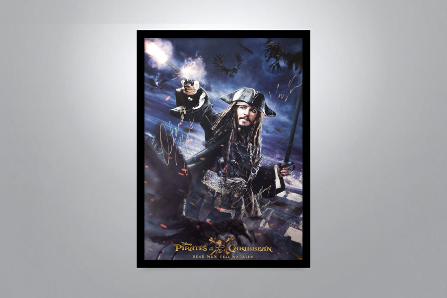 PIRATES OF THE CARIBBEAN: Dead Man Tell No Tales - Signed Poster + COA