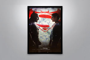 BATMAN vs SUPERMAN: Dawn of Justice - Signed Poster + COA