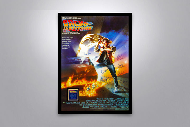 BACK TO THE FUTURE - Signed Poster + COA - Poster Memorabilia