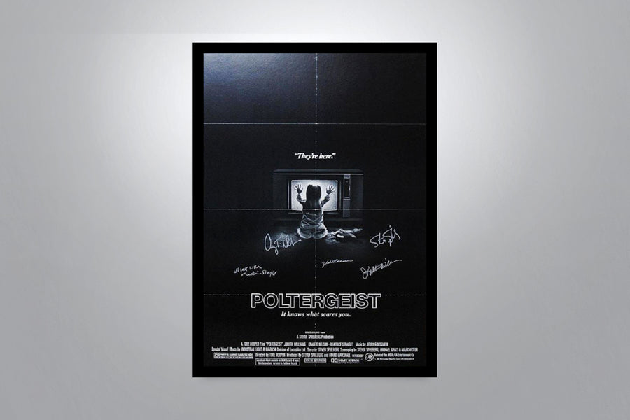 POLTERGEIST - Signed Poster + COA
